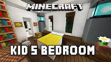 kids bedroom minecraft minecraft tutorial how to build a modern house ep 10