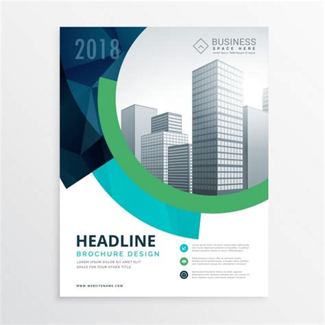 corporate brochure template free corporate brochure with circular shapes vector free