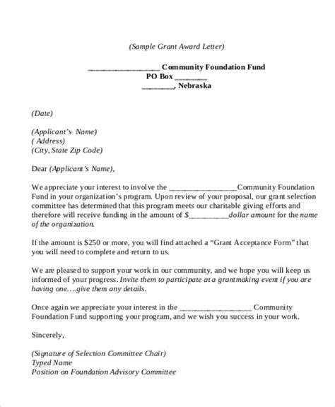 Grant Acceptance Letter Exle Acceptance For Invitation Letter Sle Infoinvitation Co