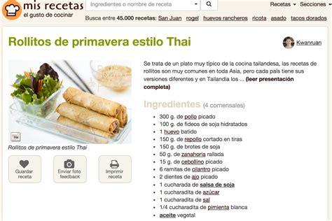 recetas de cocina para imprimir novedades y noticias new look para las recetas