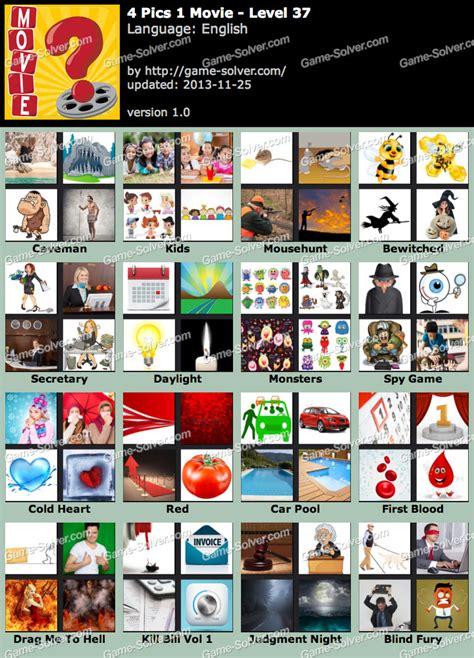 film quiz level 37 4 pics 1 movie level 37 game solver