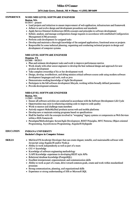 sle resume engineering project manager mid level mid level resume arch times