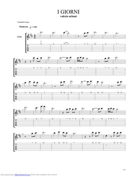 i giorni free printable sheet music i giorni guitar pro tab by einaudi musicnoteslib com