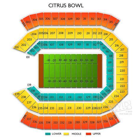 citrus bowl stadium seating map citrus bowl seating view myideasbedroom