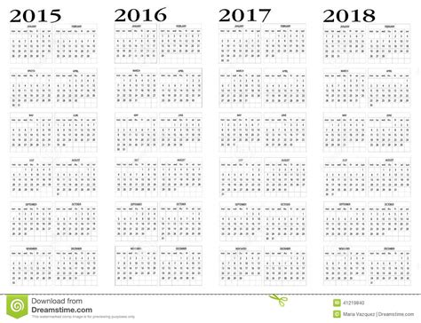 Calendario 2015 Al 2018 Calendario 2015 A 2018
