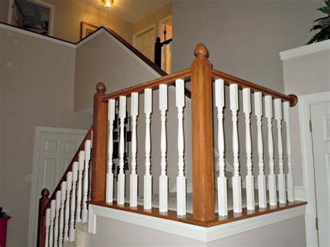 What Are Banisters by Updating A Painted Banister With Gel Stain