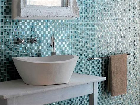Installing Glass Tile Bathroom How To Install 1 Inch Glass Tiles In Your Bathroom Installing Backsplash Mosaic
