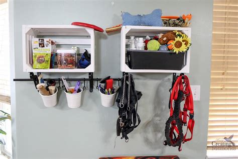 diy pit supplies easy diy crate shelves for organizing pet supplies