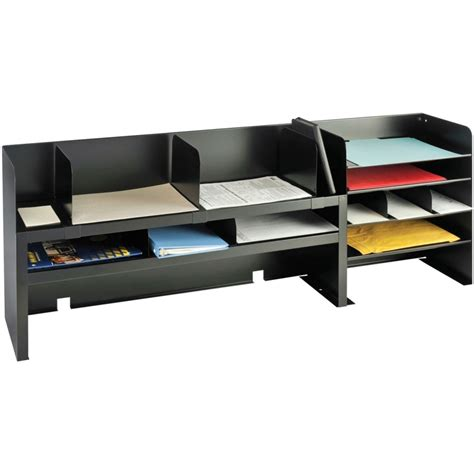 office desk with shelves mmf2061dobk desk organizers with movable shelves