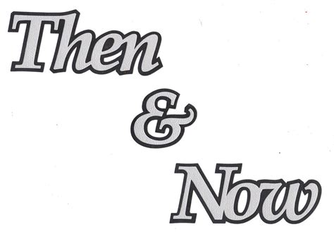 And Now A Word From by Scrapbooking Words Then Now 2 Tone Ebay
