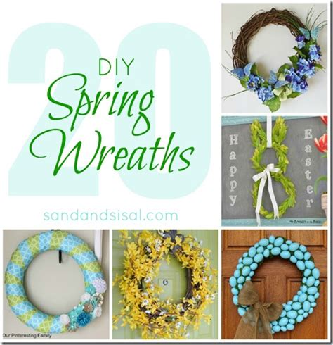 spring diy 20 diy spring wreaths sand and sisal