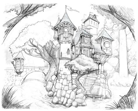 bring me to grayscale coloring book books castle drawing by brandonstarr on deviantart