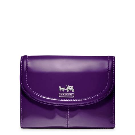 Purple Accessories Purple Wallets Purple Belts Purple Gloves And More by Lyst Coach Patent Medium Wallet In Purple