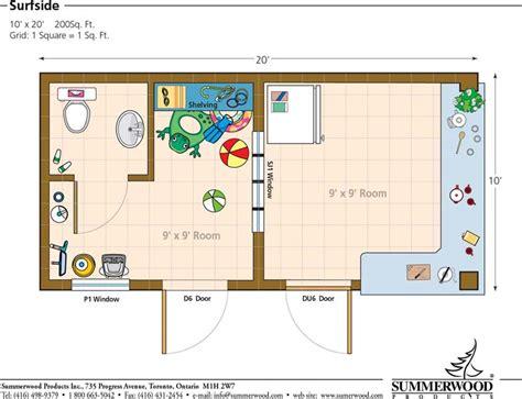 10 x 20 with loft cabin floor plans floor plan