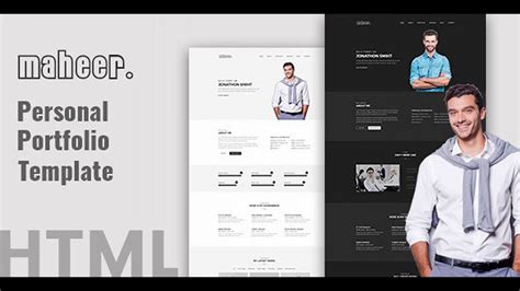 maheer personal portfolio template themeforest website