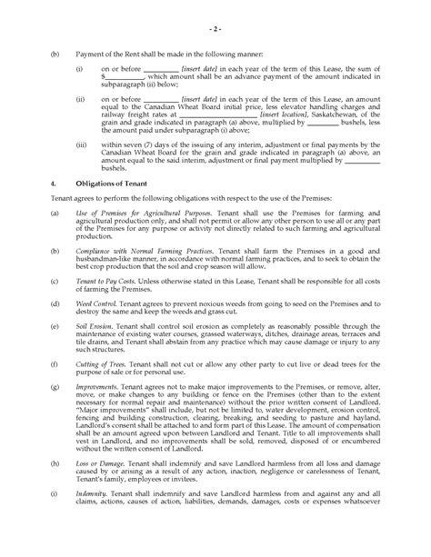 saskatchewan rental agreement template saskatchewan farm land lease agreement forms