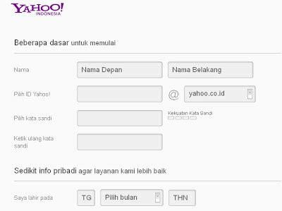 Cara Membuat Id Yahoo Sesuai Keinginan | cara mudah membuat email di yahoo