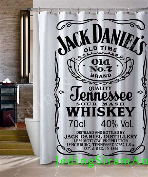 jack daniels bathroom jack daniels logo white shower curtain from jedingsiraman