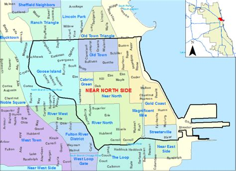 chicago northside neighborhood map chicago real estate near side homes for sale re