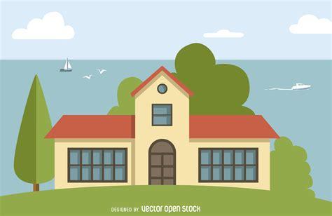 14 cartoon house vector images cartoon house garden big house illustration vector download