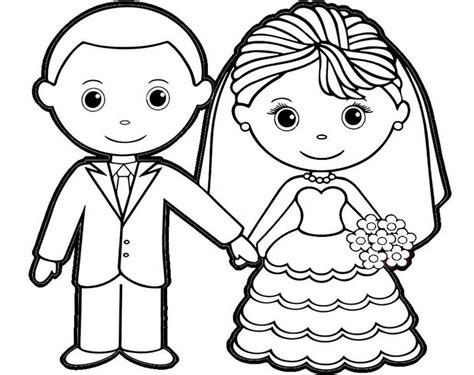 Printable And Groom Coloring Pages by Charming And Groom Coloring Sheet For Children