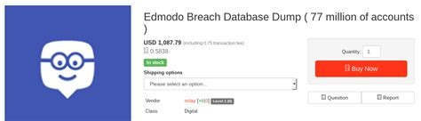 edmodo hack news hacker steals millions of user account details from