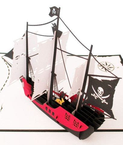 pop up ship card template 87 best 3d laser cards images on papercutting