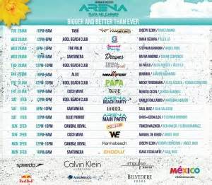 Calendario Arena Mexico Festival Arena 2014 Playa