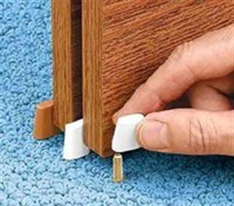 sliding closet door guides floor ez nail on sliding closet door guide