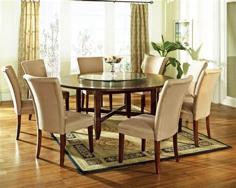 lazy susan dining room table 9 pc avenue 72 quot round dining table set with lazy susan by