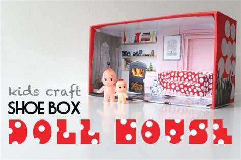 how to make a doll house out of cardboard how to make a recycled shoe box doll house recycled crafts