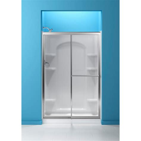 Frosted Glass Sliding Shower Doors Sterling 48 7 8 In X 70 1 4 In Framed Sliding Shower
