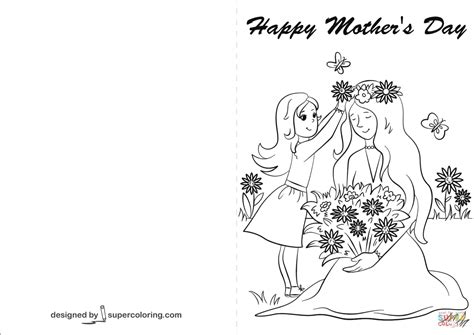 happy mothers day coloring page happy s day card coloring page free printable