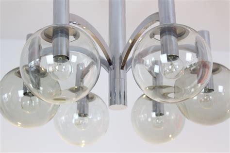 kronleuchter aus glas vintage kronleuchter aus chrom glas kaiser leuchten