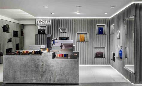 designboom interior design david adjaye designs concrete interior for valextra at harrods