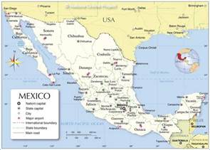 map of the mexico map of mexico cities