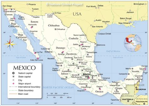 meixco map map of mexico and guatemala mexico map
