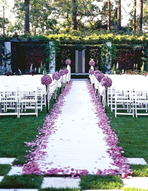 Garden Weddings Ideas 50 Best Garden Wedding Aisle Decorations Pink Lover