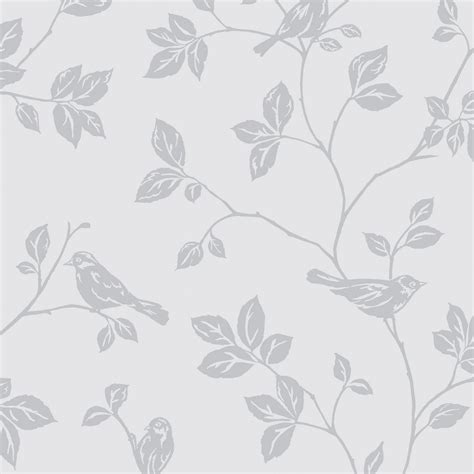grey wallpaper with leaves sparkle birds from the glitz collection is a elegant