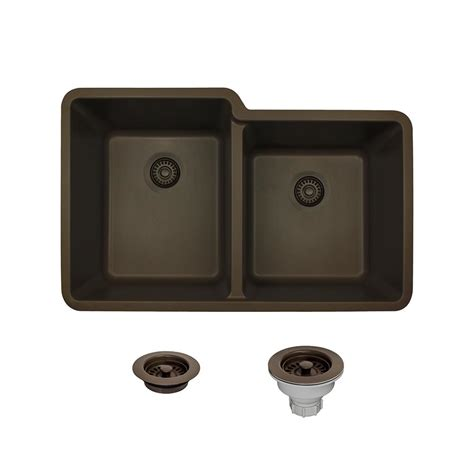 kitchen sinks direct mr direct all in one undermount composite 33 in double