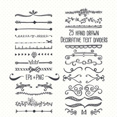 design journal text chalkboard text divider clip art hand drawn eps png