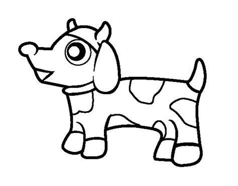 dibujos de perros para colorear dibujosnet dibujo de perro vaca para colorear dibujos net