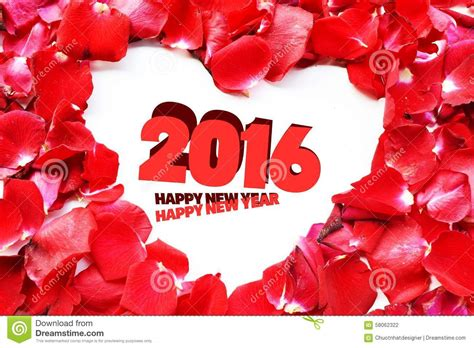 New Year 2016 Roses Petal , Blank Space For Love Messages Stock Photo   Image: 58062322