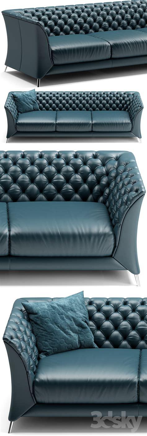 Green Leather Sofa 833 by 3d Models Sofa Sofa Natuzzi La Scala