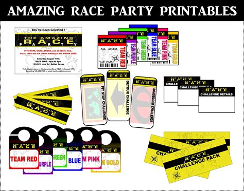 the amazing race clue template amazing race printables review concert