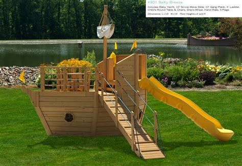 wooden boat swing set backyard playsets for small yards 187 backyard and yard