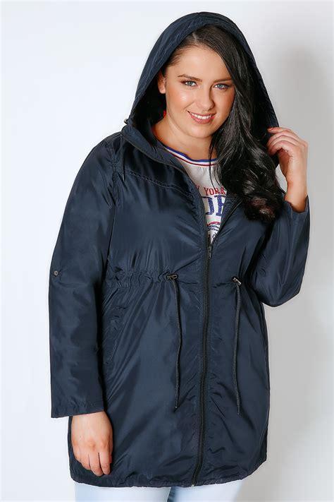 Pocket Parka Parka navy shower resistant pocket parka jacket with plus
