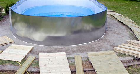 como colocar tubos para base consejos para instalar una piscina desmontable