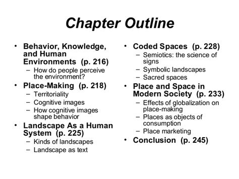 The Cultural Landscape Chapter 10 Outline by Human Geography6