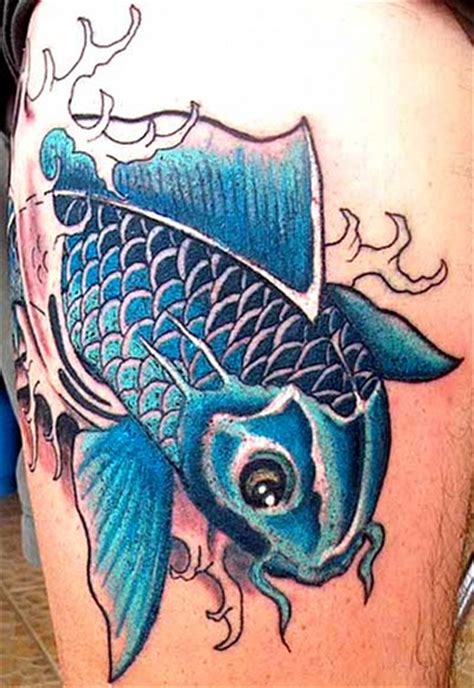 blue koi fish tattoo koi fish tattoos
